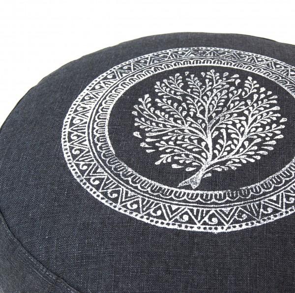 Handgeprint, meditatiekussen Tree of Life door Pure Prana Label