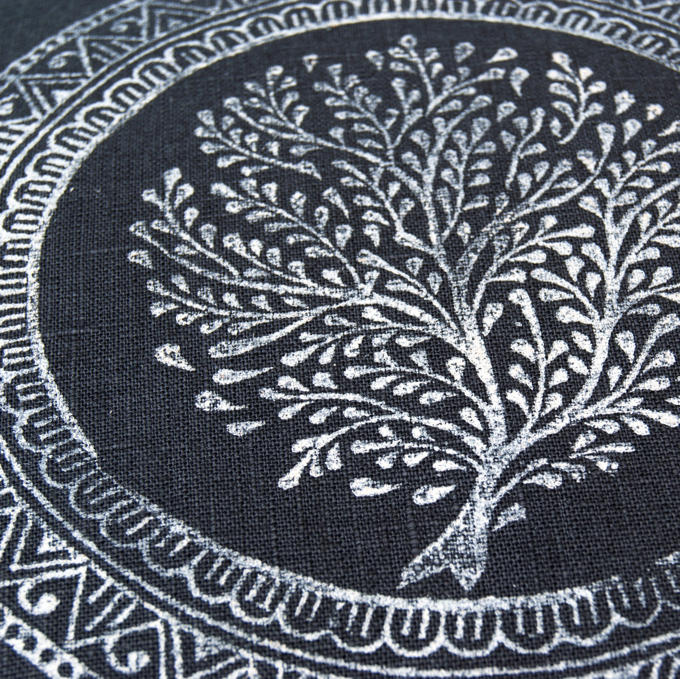Close up print Tree of Life Pure Prana Label