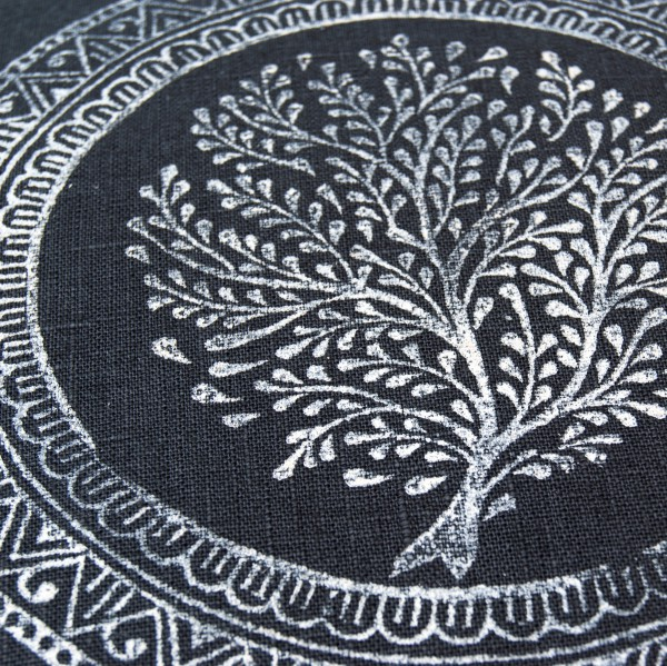 Close up print Tree of Life Pure Prana Label