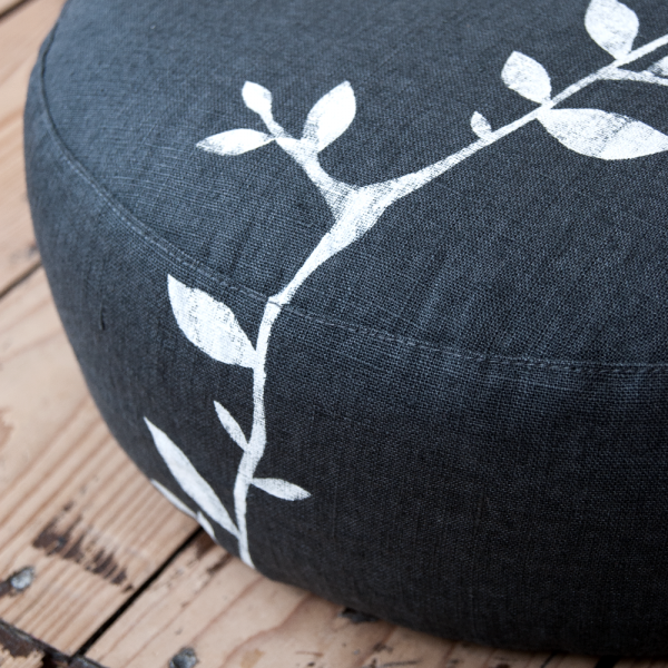 Close up meditation cushion Branch