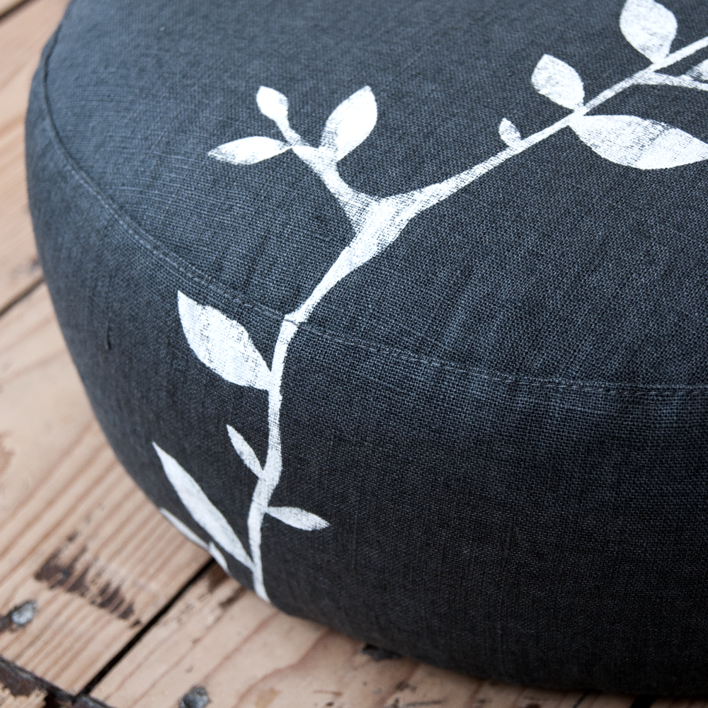 Close up meditation cushion Branch