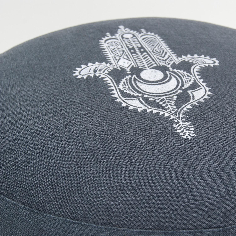 Close up Hamsa meditation cushion