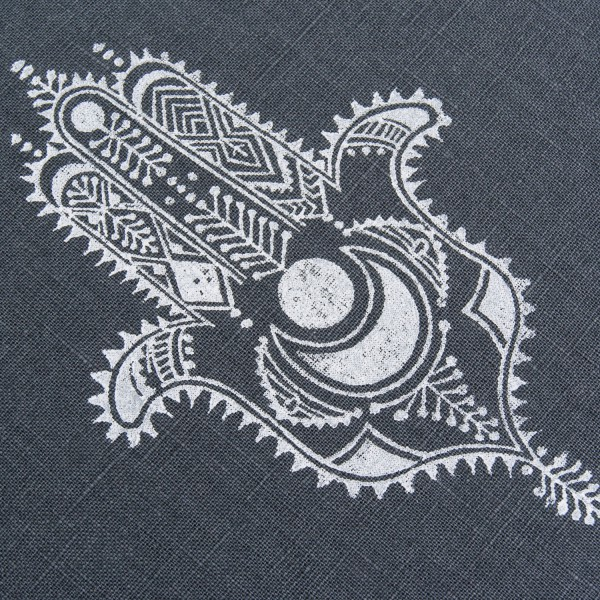 Close up Hamsa print by Pure Prana Label