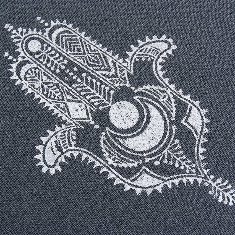 Close up Hamsa print by Pure Prana Label