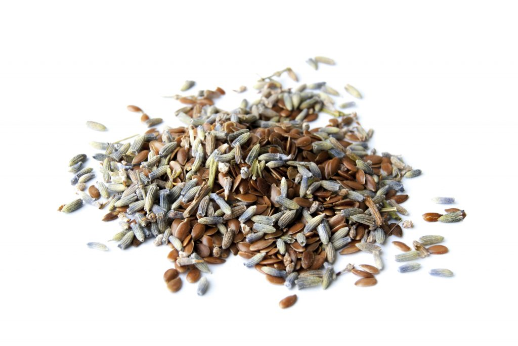 Lavender and flax seeds