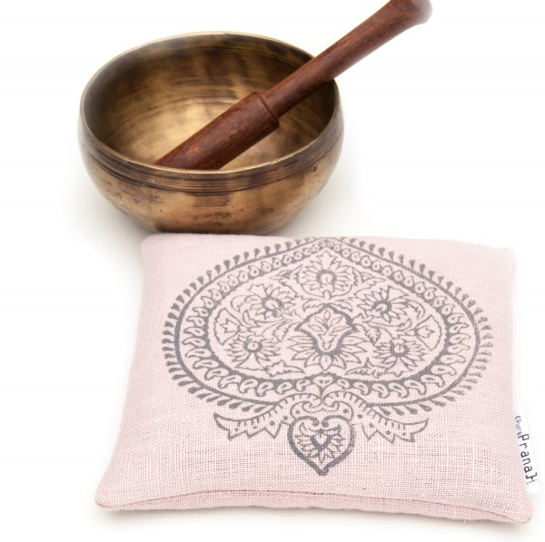 Organic singing bowl cushion