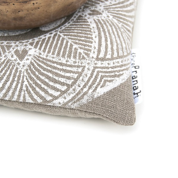 Organic singing bowl cushion Pure Prana Label