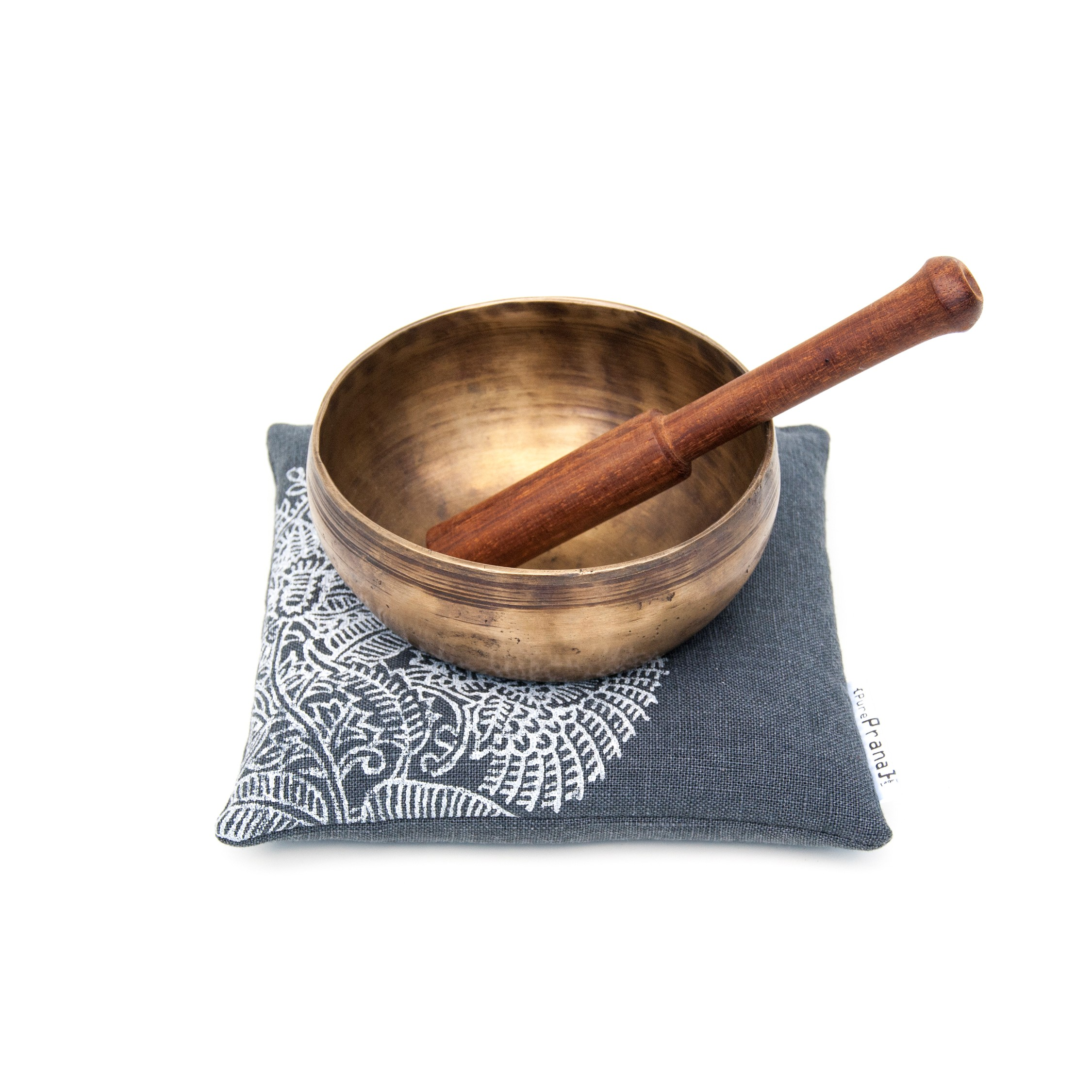 Singing bowl cushion, 100% flax linen by Pure Prana Label