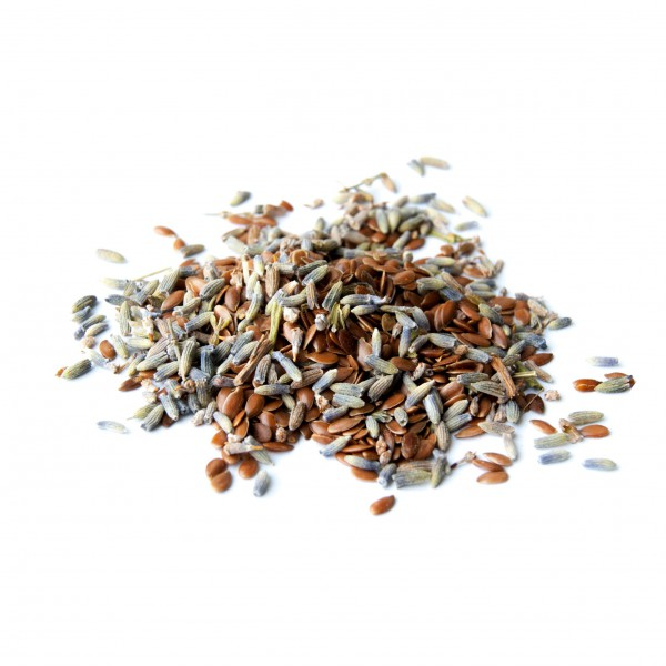 Flax seeds and lavender by Pure Prana Label