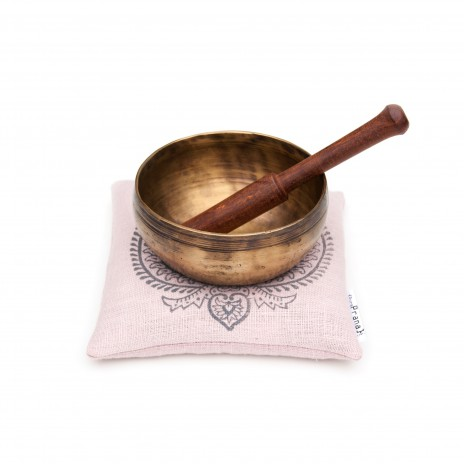 Organic singing bowl cushion