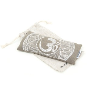 Olive green lavender eye pillow OHM by Pure Prana Label