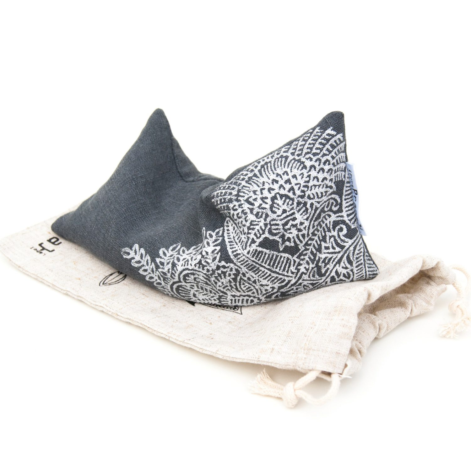 Our eye pillows come with a matching pouch