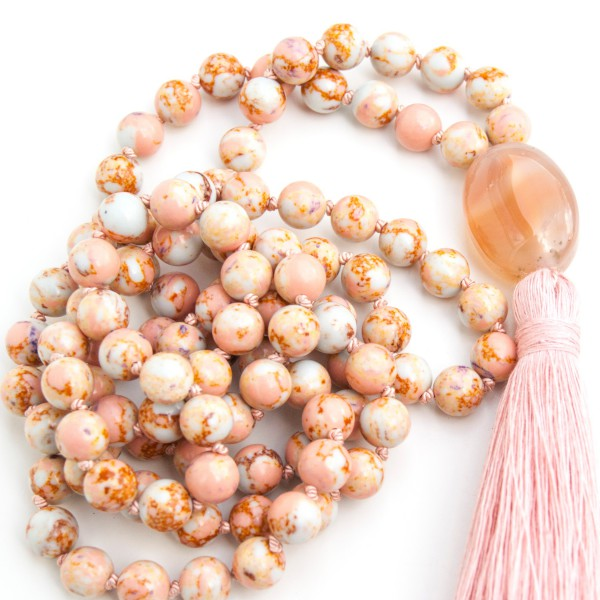 Imperial Jasper mala by Pure prana Label
