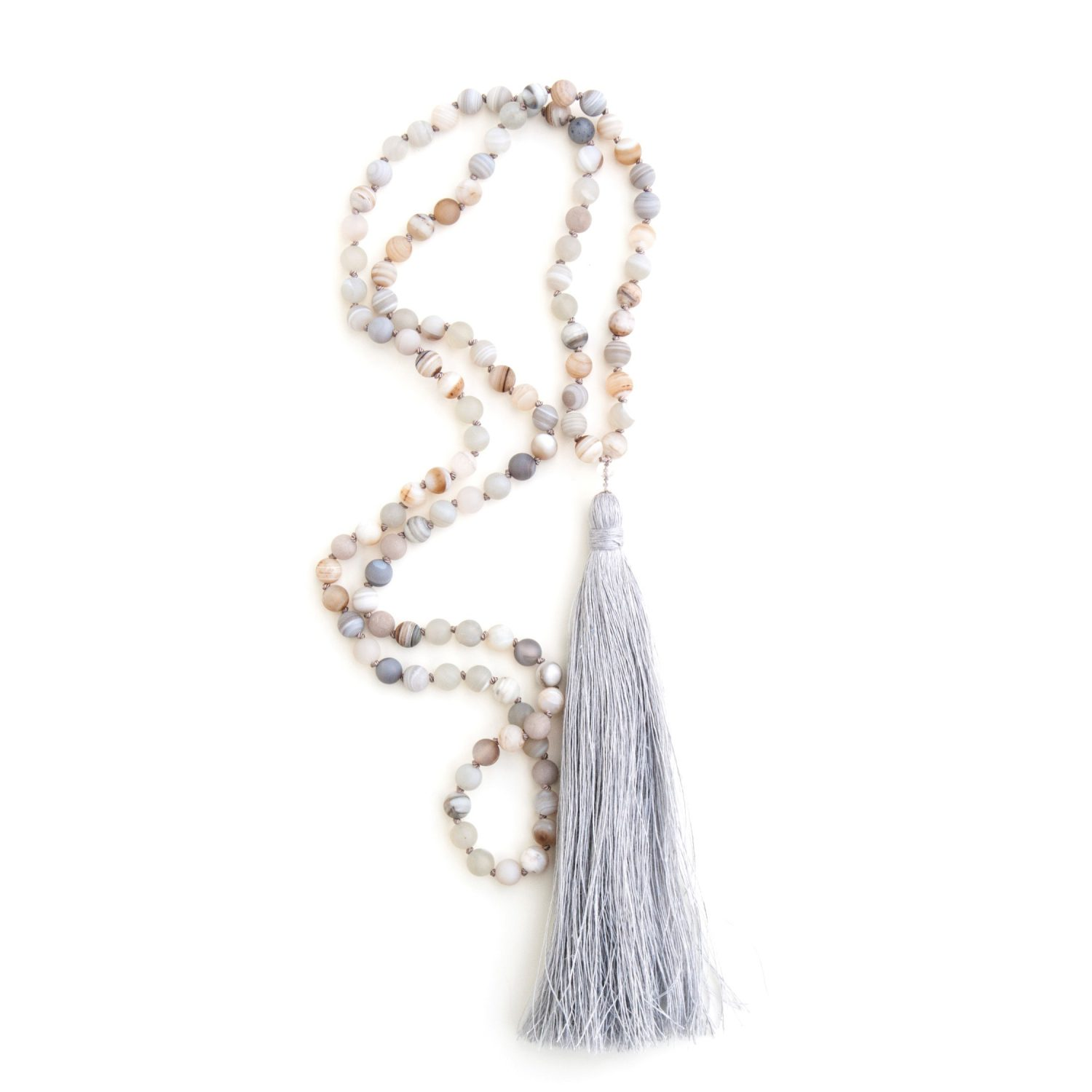 Agate mala for grounding by Pure Prana Label