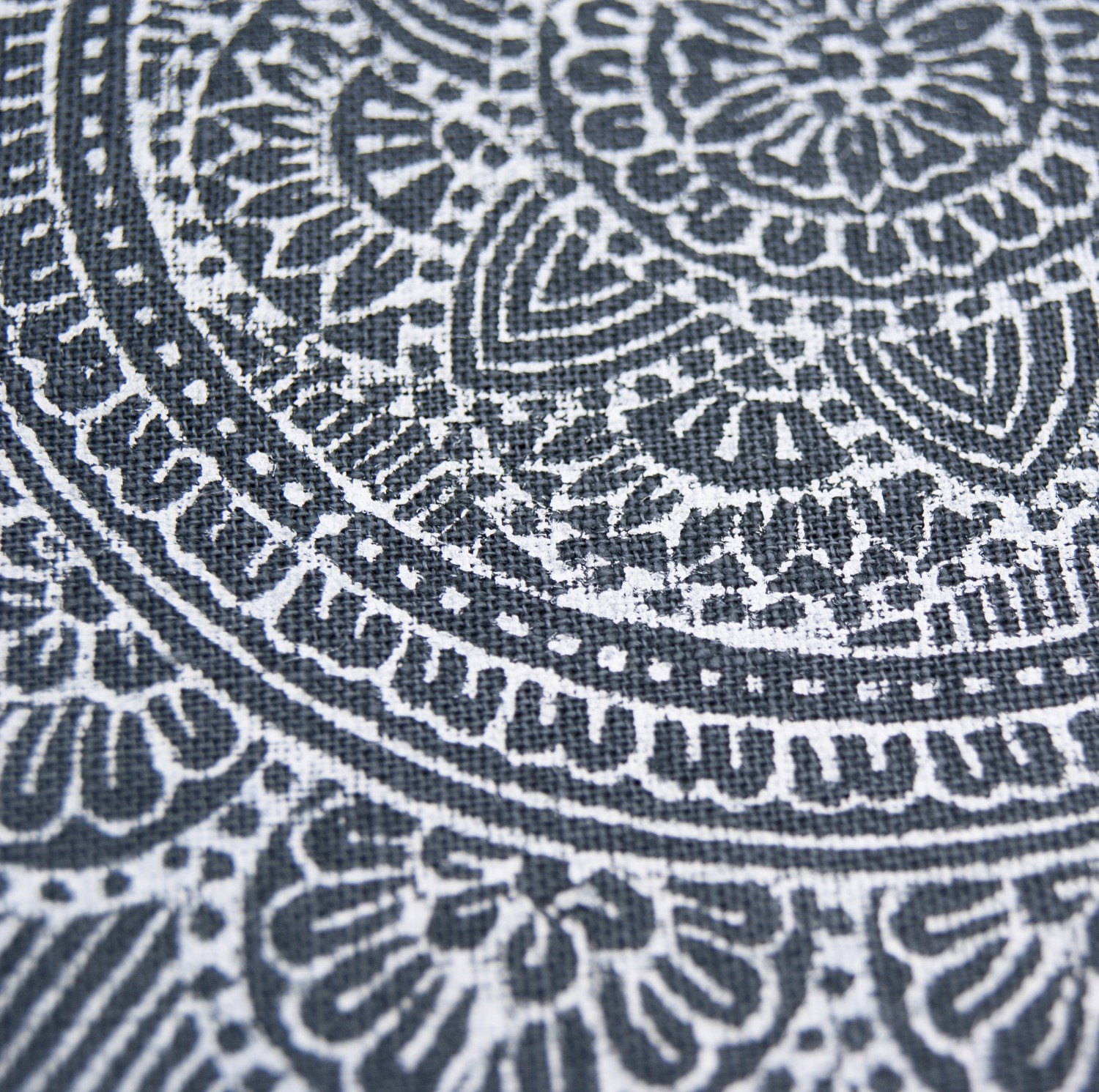 Close up of the mandala print