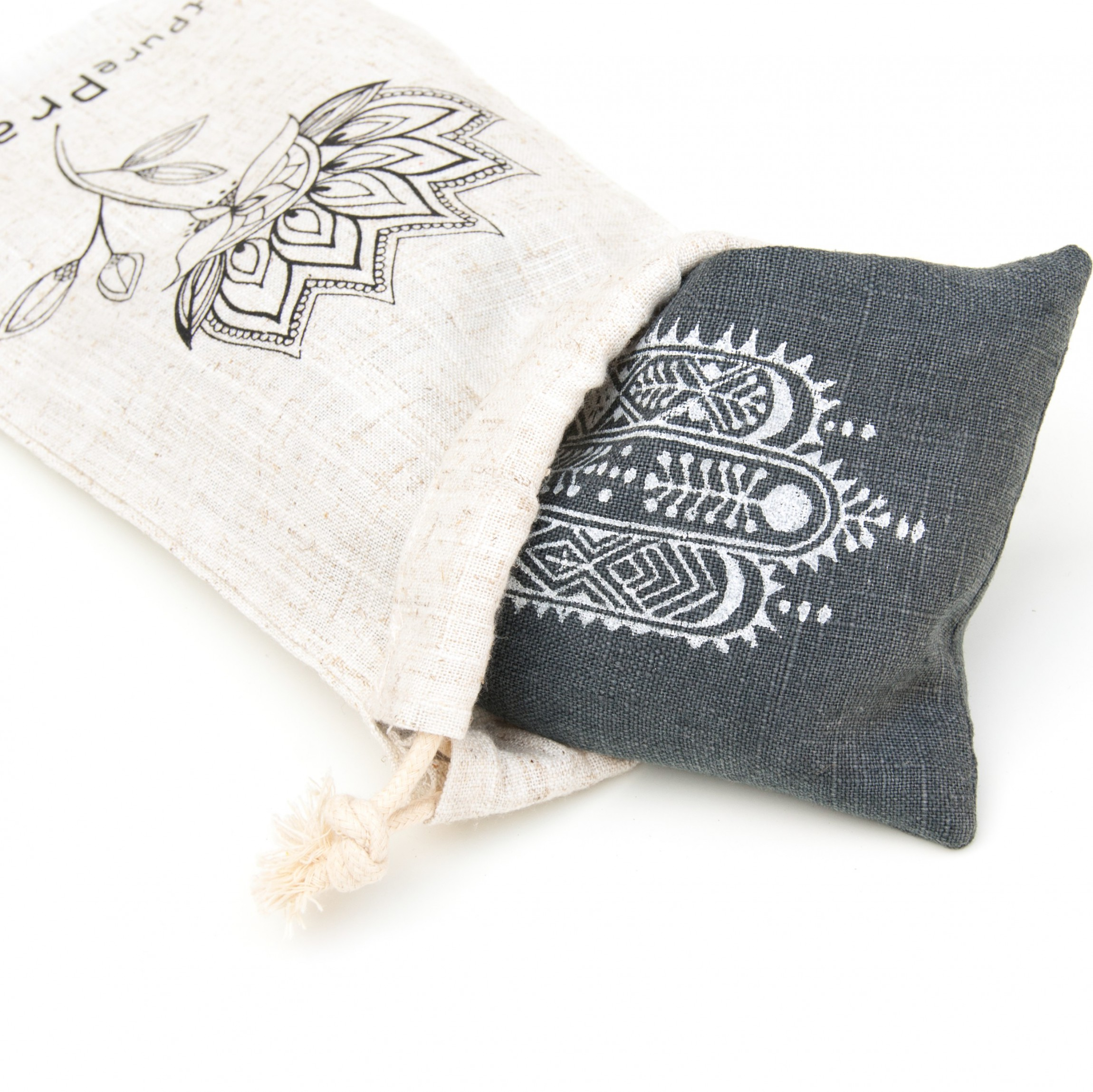 Your lavender eye pillow comes with a linen pouch to travel and take to class.
