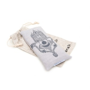 Light grey lavender eye pillow by Pure Prana Label