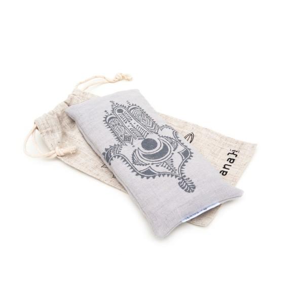 Light grey lavender eye pillow by Pure Prana Label