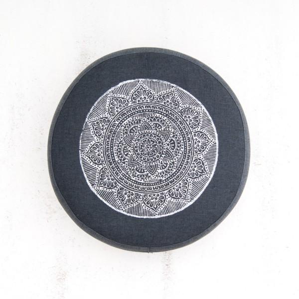Dark Grey mandala meditation cushion by Pure Prana Label