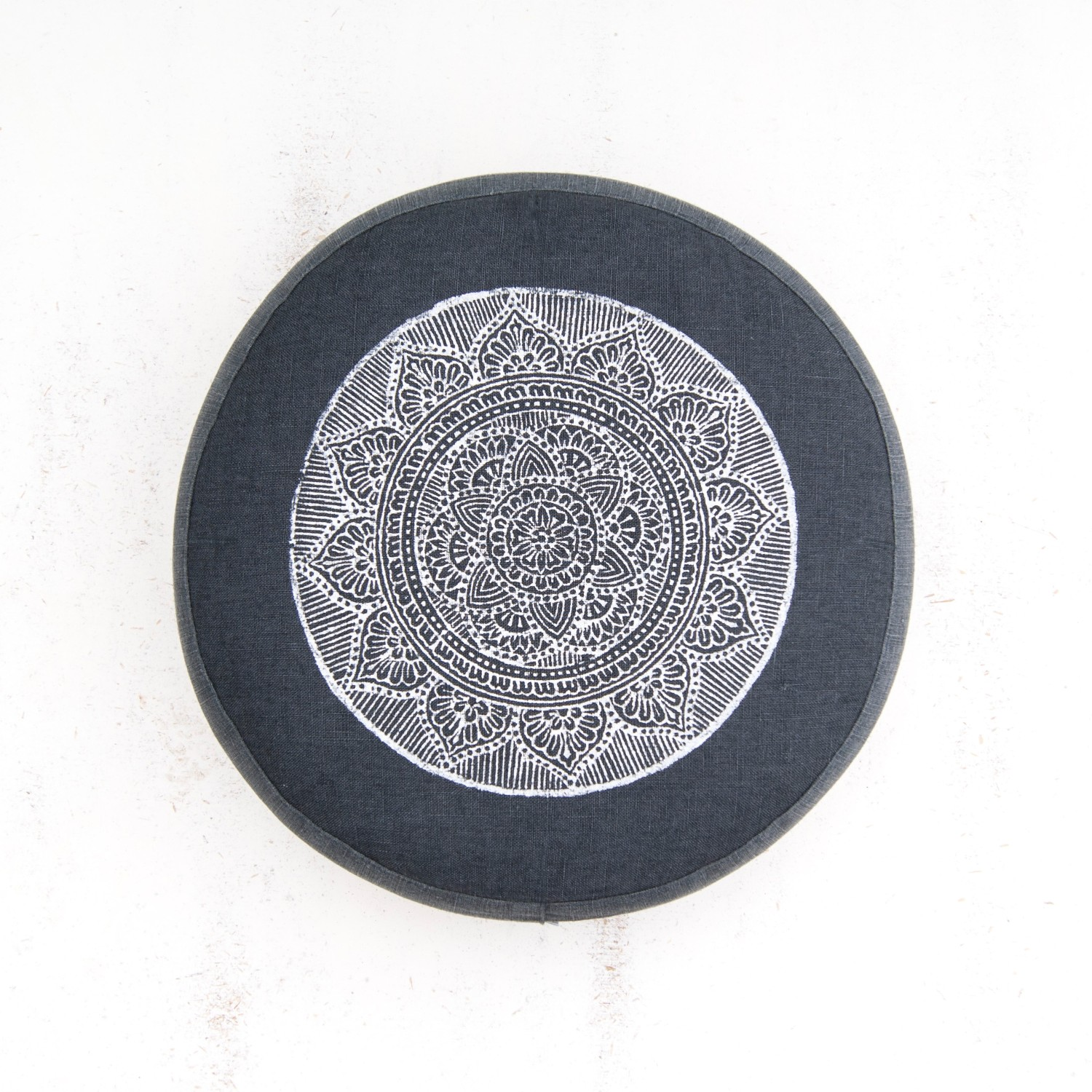 Dark Grey mandala meditation cushion by Pure Prana Label