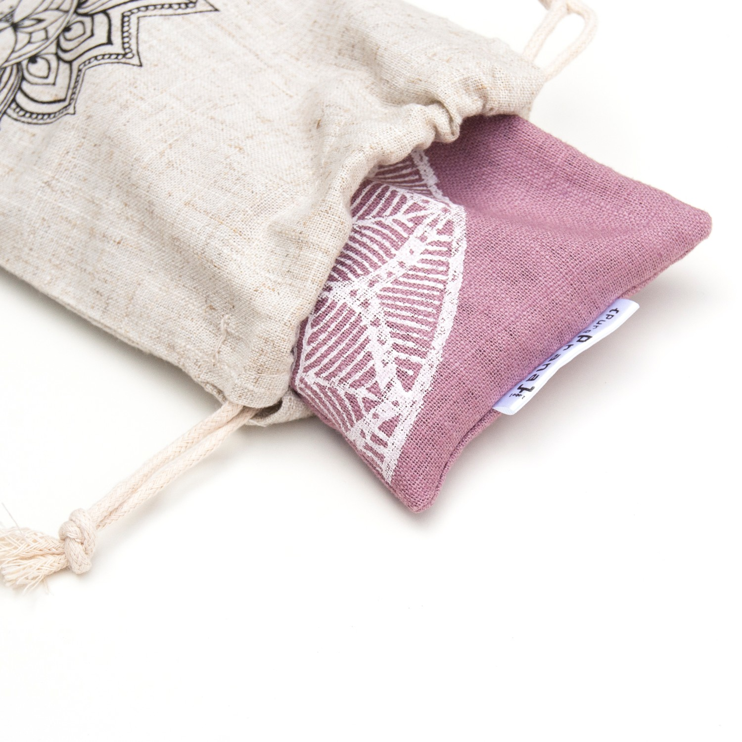 Your eye pillow comes with a linen pouch to keep it clean.