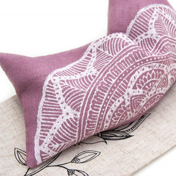 Very soft and durable linen, the scent of your lavender eye pillow will last a long long time.