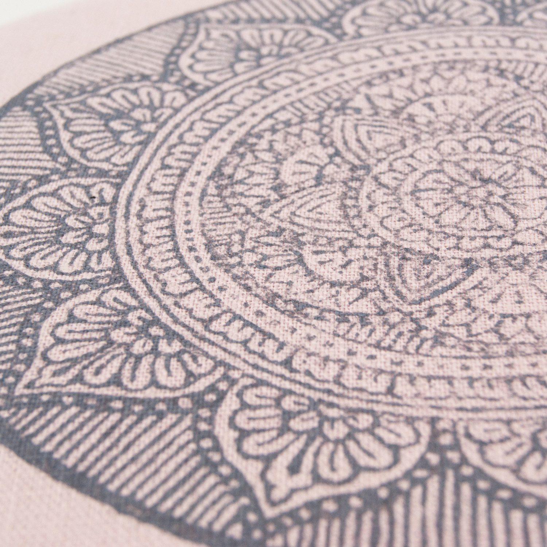 The stunning mandala print, handprinted in the Netherlands