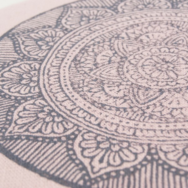 The stunning mandala print, handprinted in the Netherlands