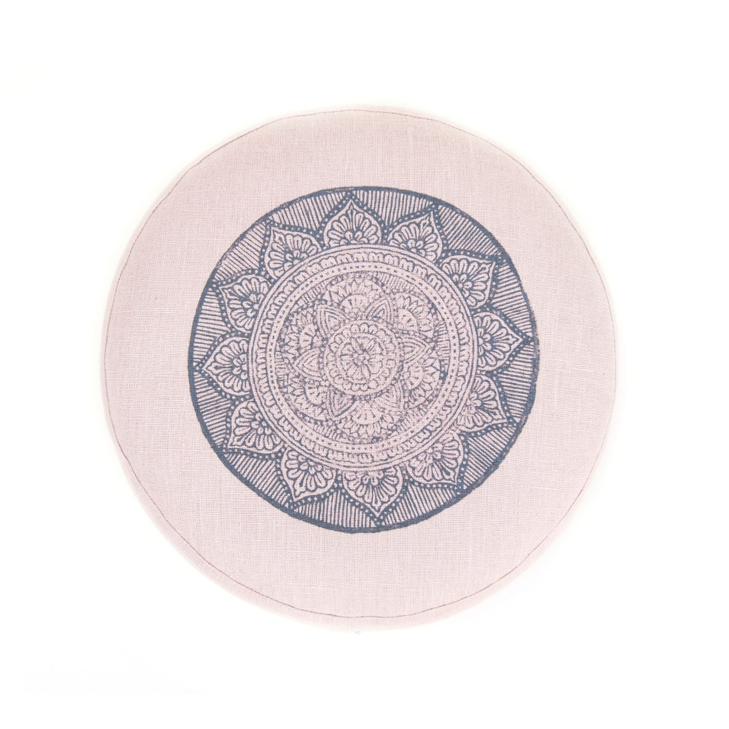 Top view of your light pink meditation cushion