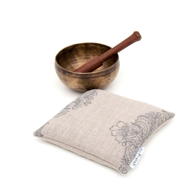 100% linen singing bowl cushion