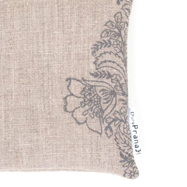 Singing bowl cushion by Pure Prana Label, close up