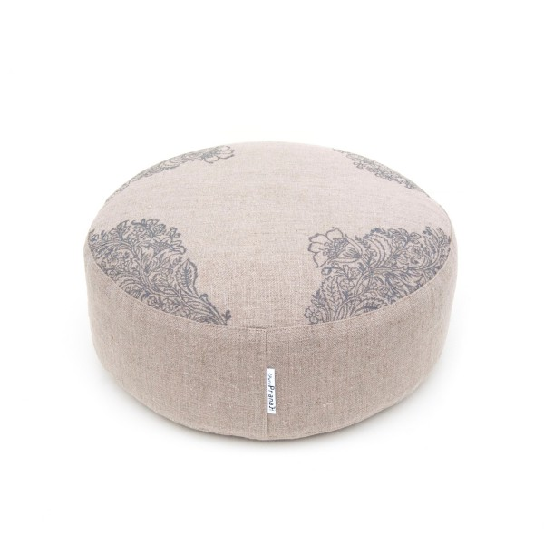 A rustic natural meditation cushion by Pure Prana Label