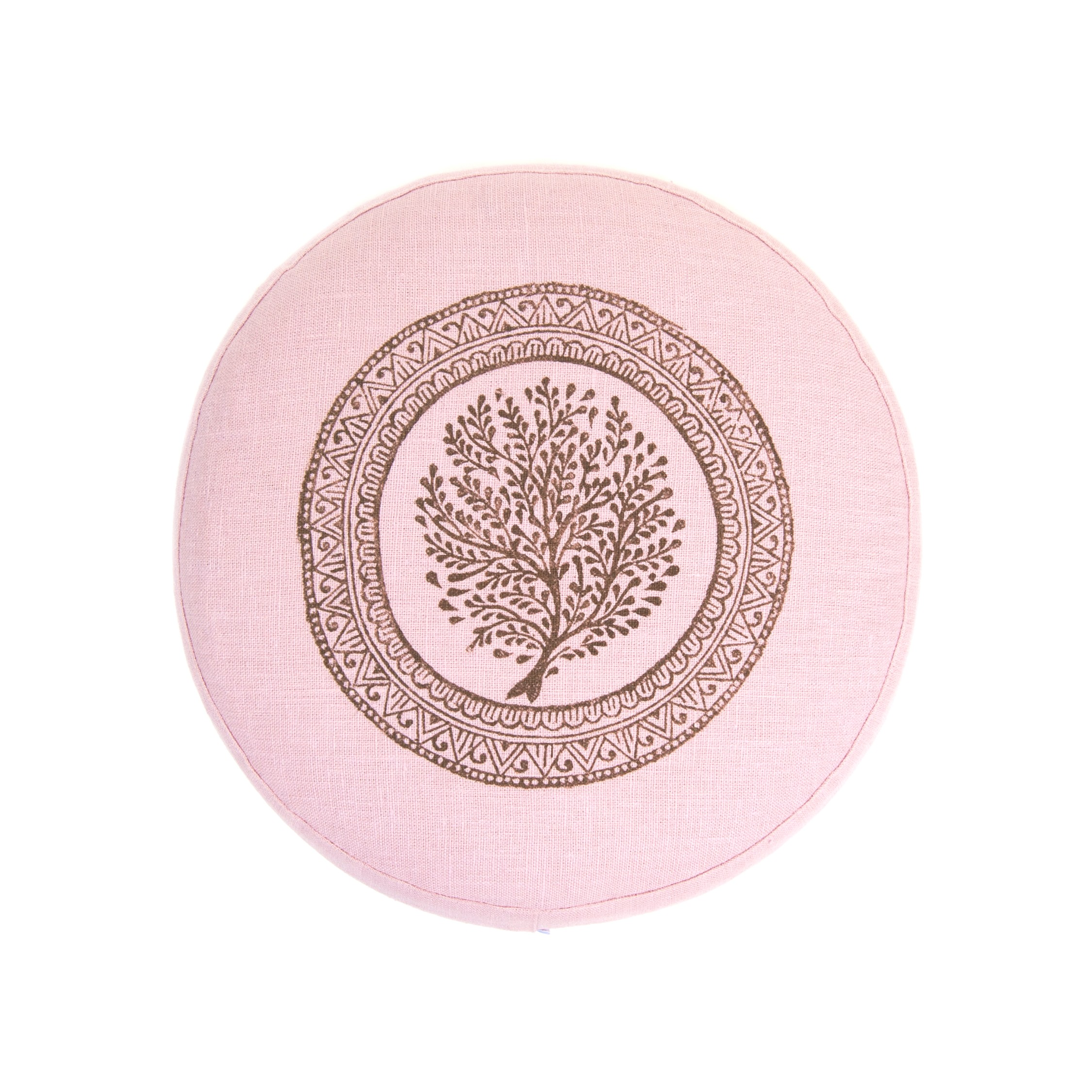 Meditation cushion Tree of Life by Pure Prana Lable