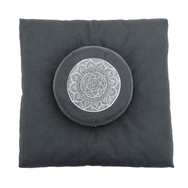 Cloudy soft zabuton and matching zafu by Pure Prana Label