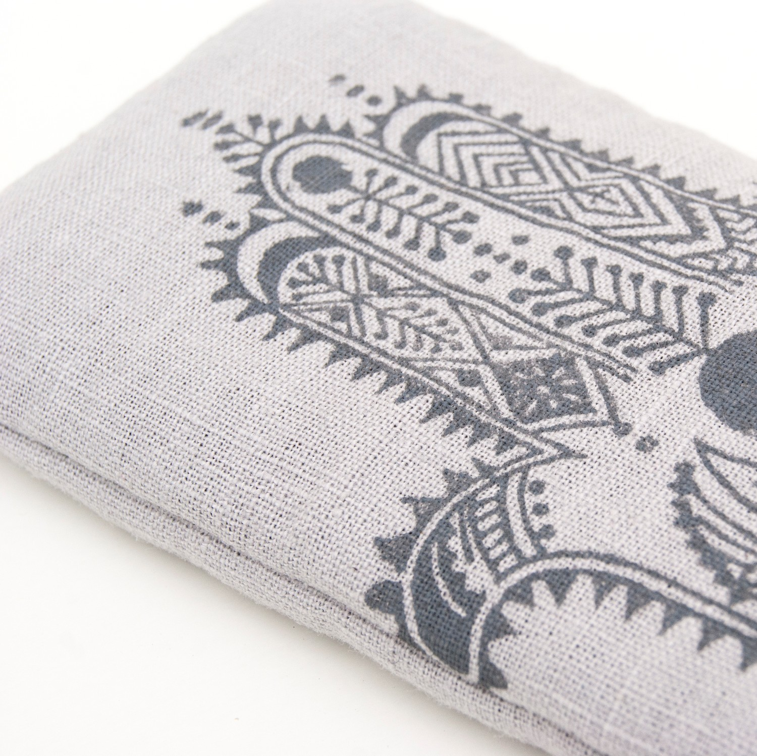 A close up of the Hamsa print by Pure Prana Label