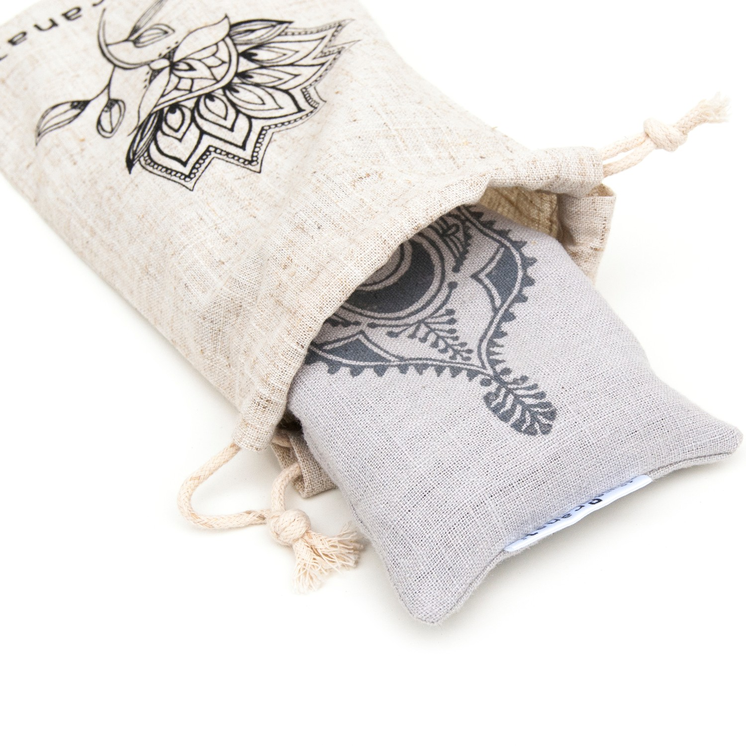 Your lavender eye pillow comes with a linen pouch to take to yoga class.