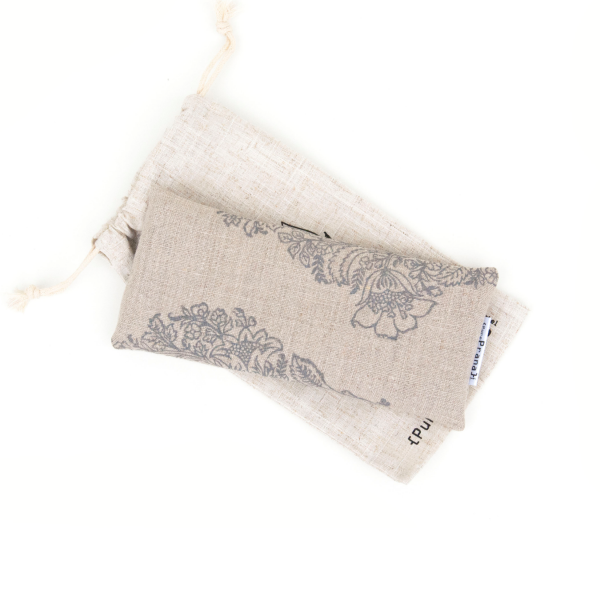undyed natural linen eye pillow by Pure Prana Label