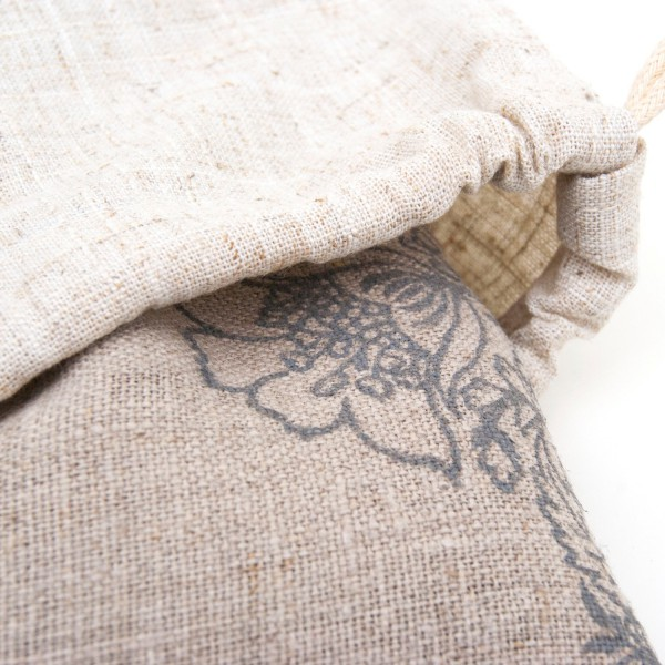 a rustic but soft undyed and unbleached linen for your eye pillow