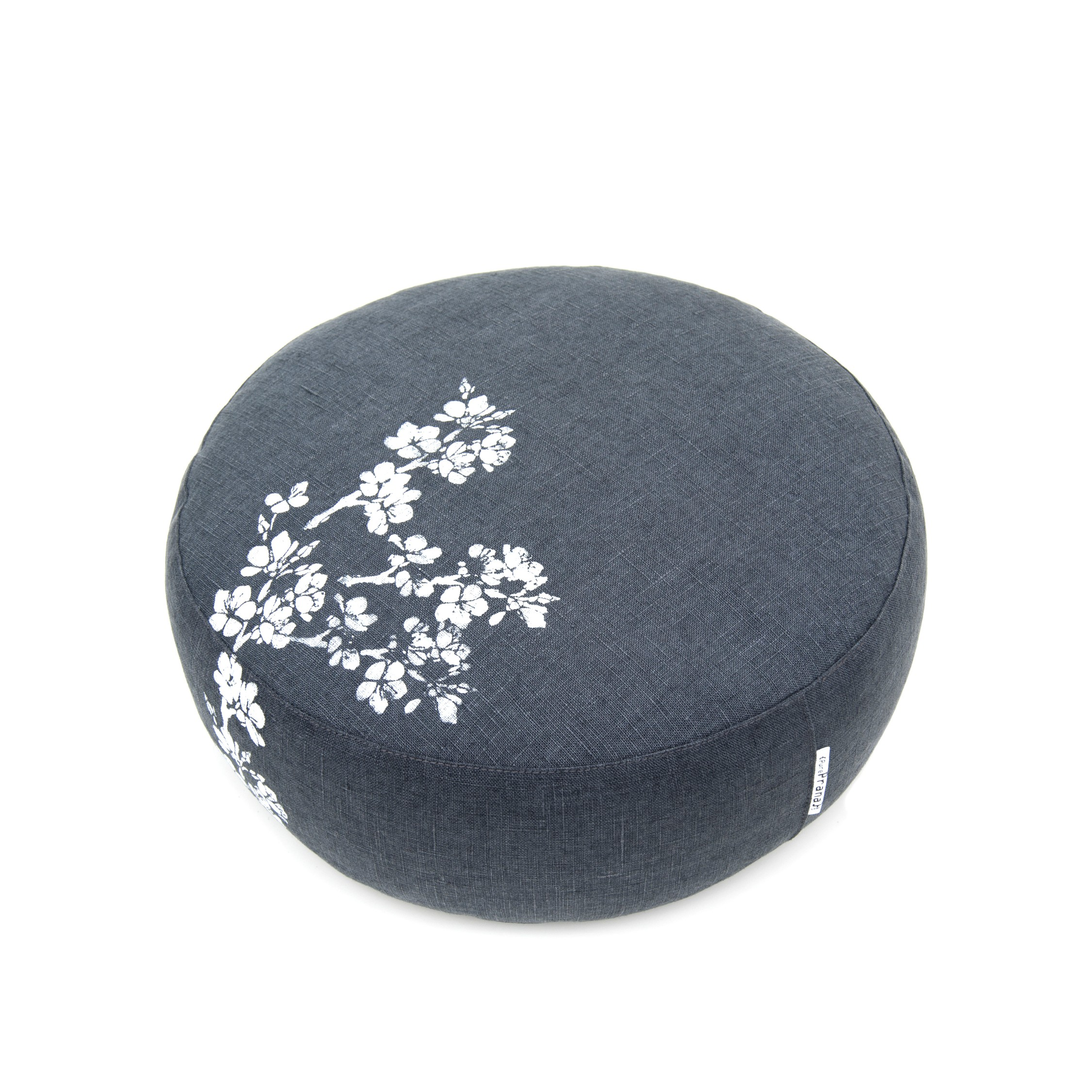 An aerial view of the Cherry Blossom meditation cushion by Pure Prana Label