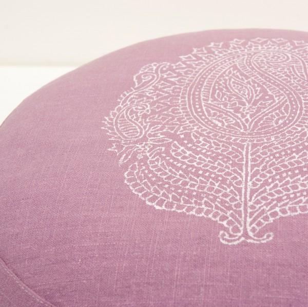 Close up print meditation cushion Paisley