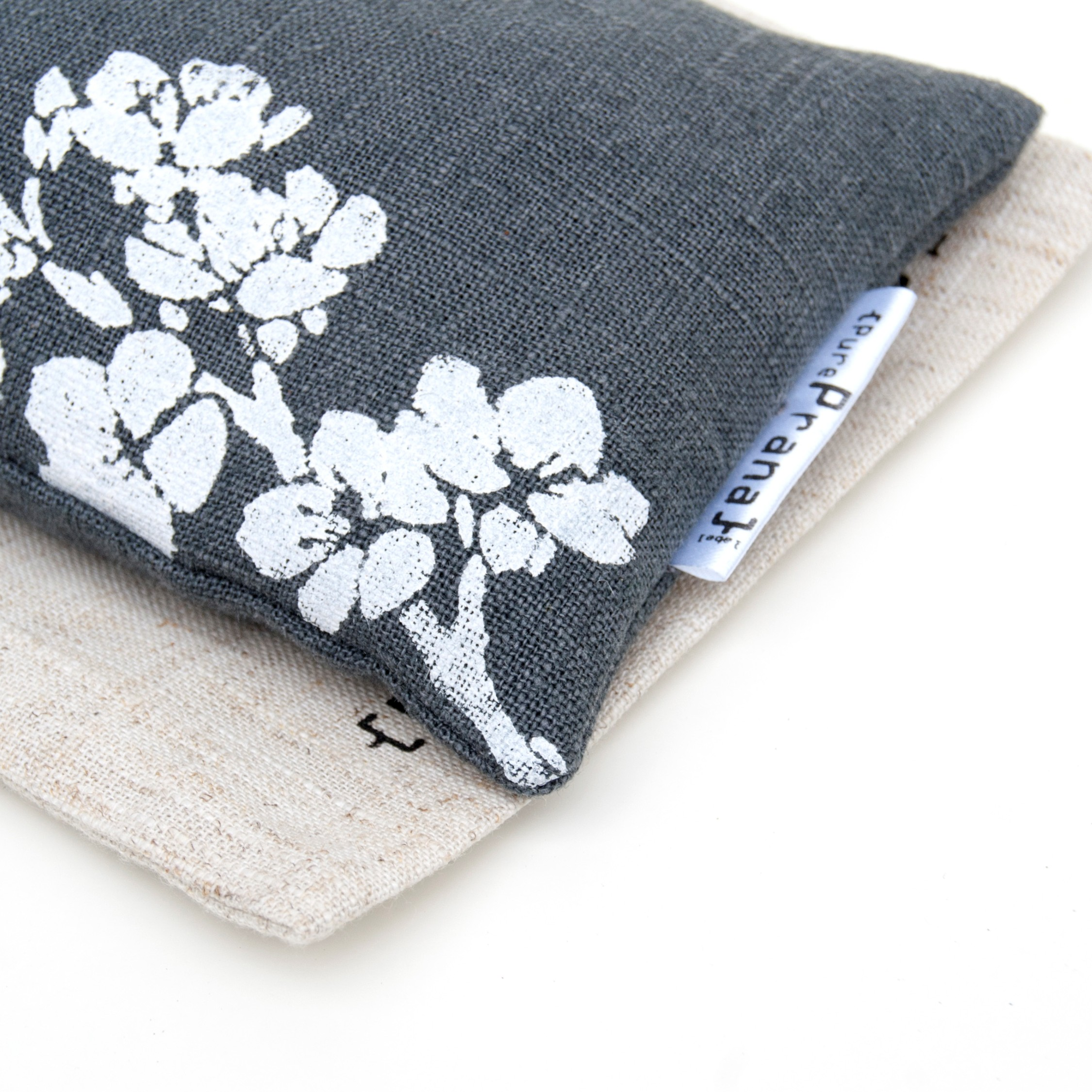 Close up of the Lavender eye pillow Cherry Blossom by Pure Prana Label
