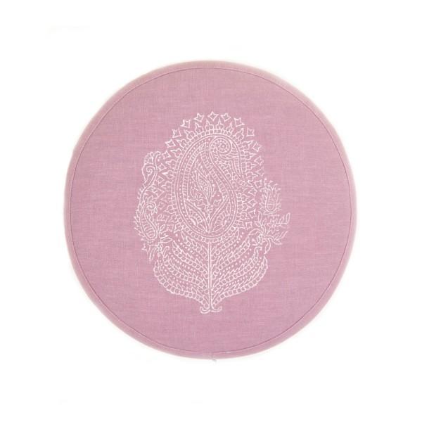 Top view Paisley meditation cushion