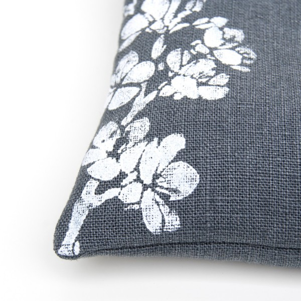 Close up of the Cherry Blossom singing bowl cushion by Pure Prana Label