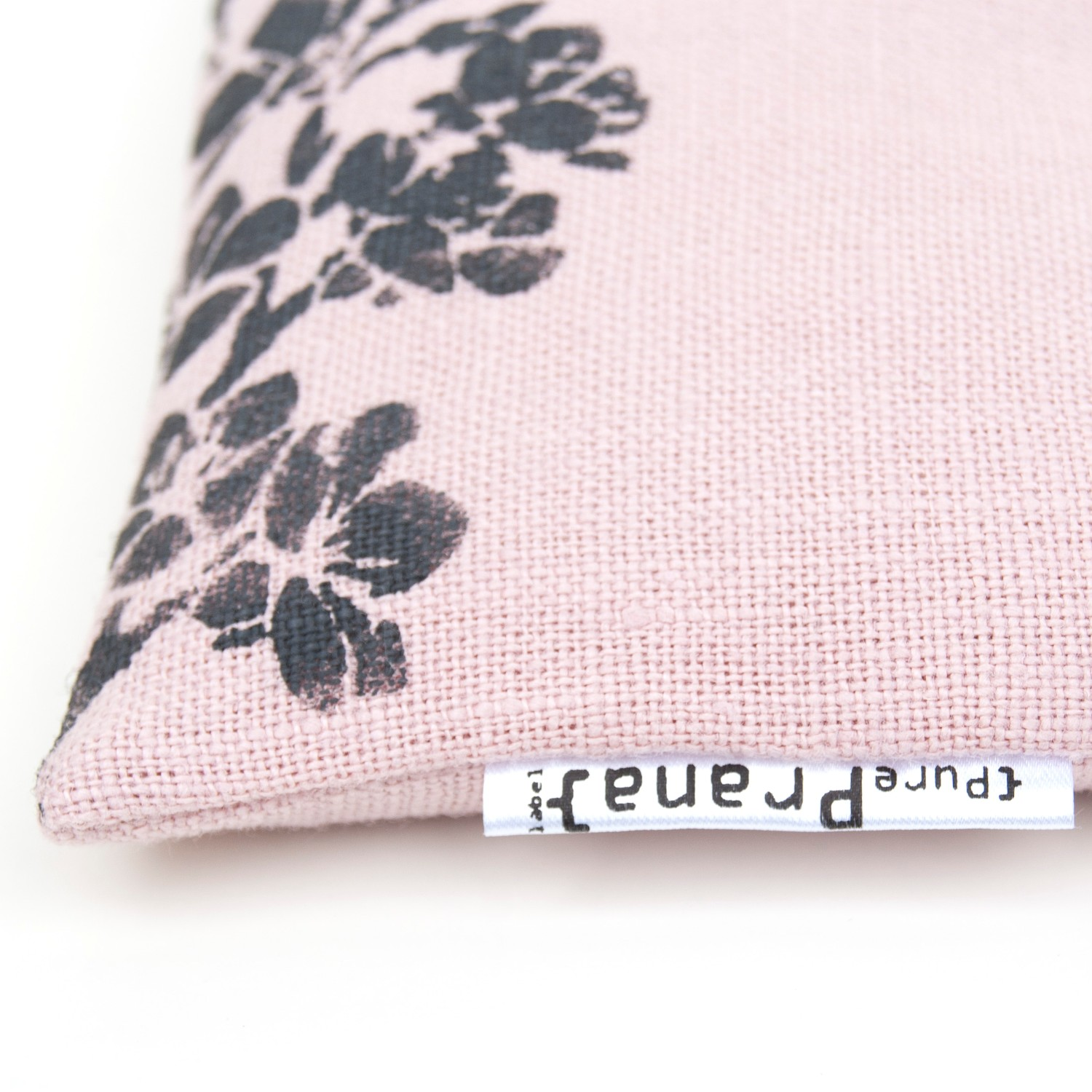 close up crystal eye pillow cherry blossom Pure Prana Label
