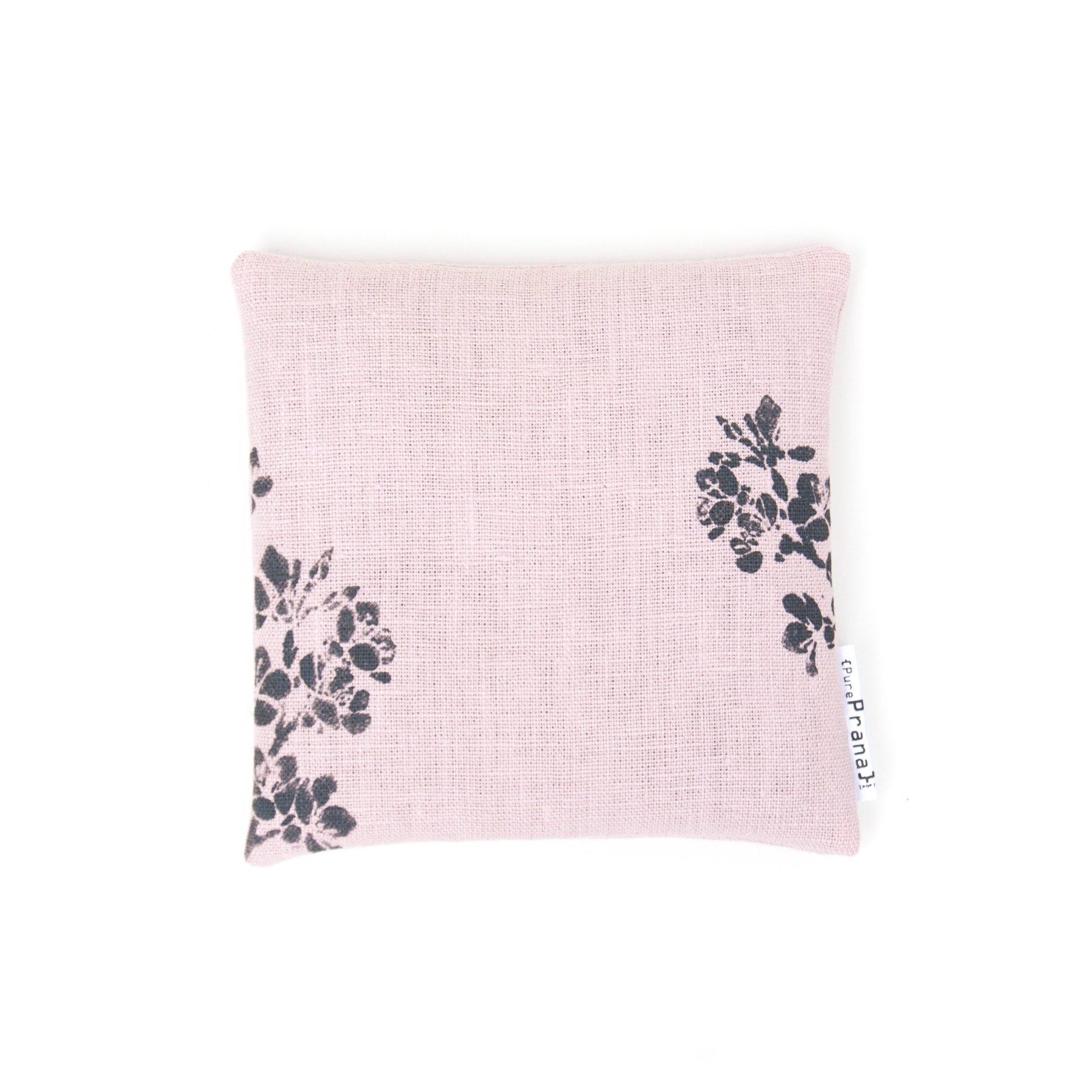 Singing bowl cushion Cherry blossom in Pink EU Linen