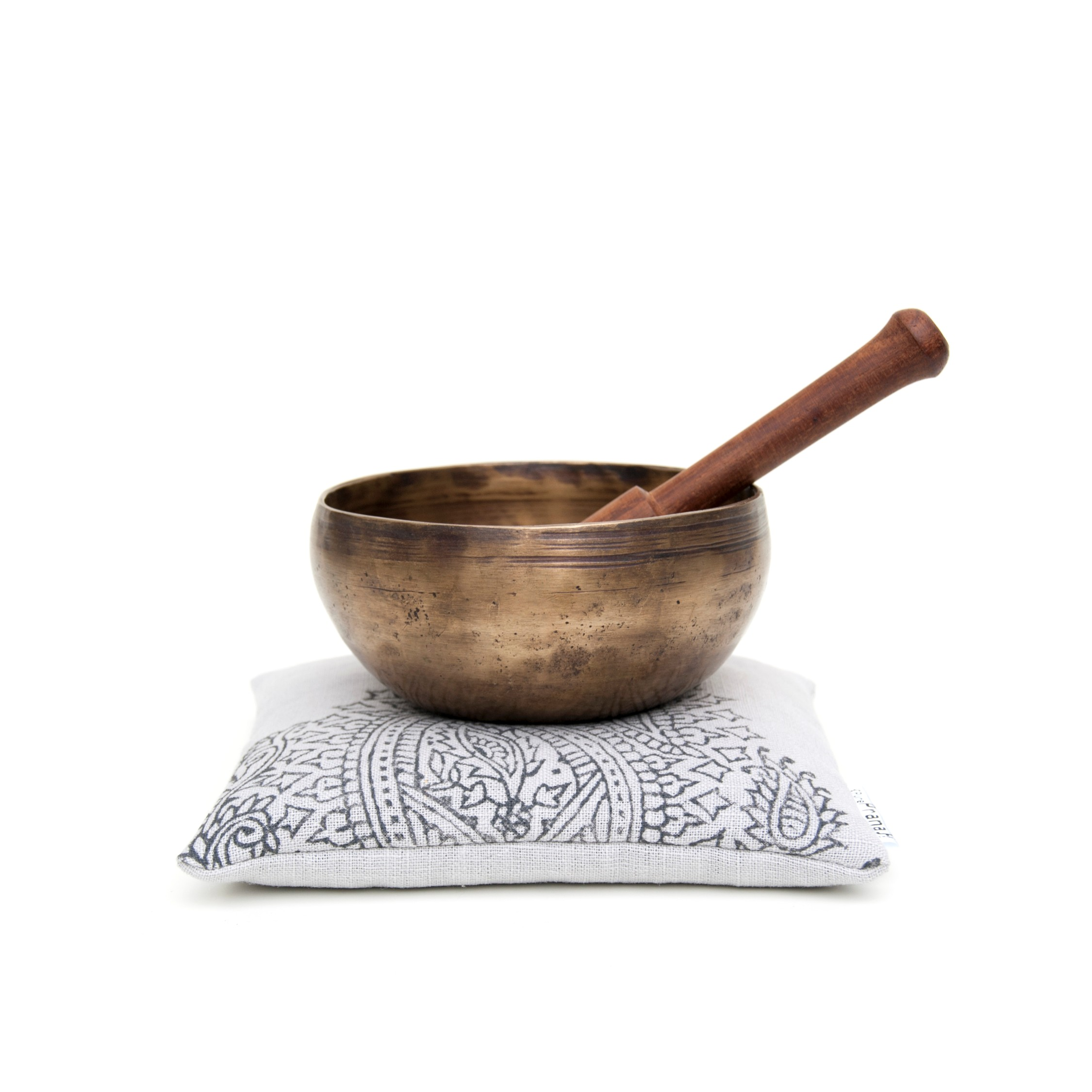 singing bowl cushion Paisley