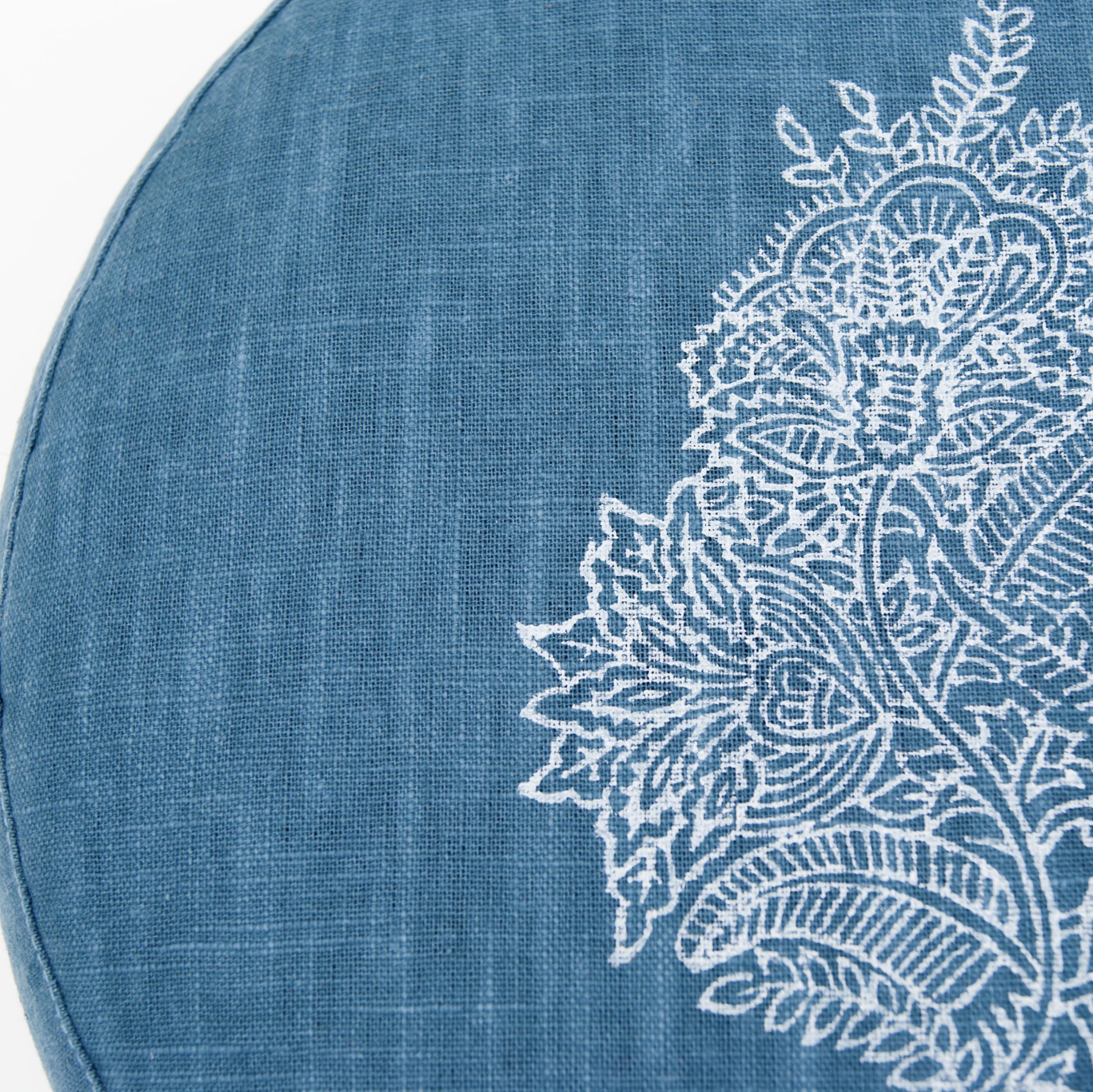 Print Royal Blue Flower meditation cushion