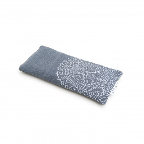 Crystal eye pillow dark grey Paisley by Pure Prana Label