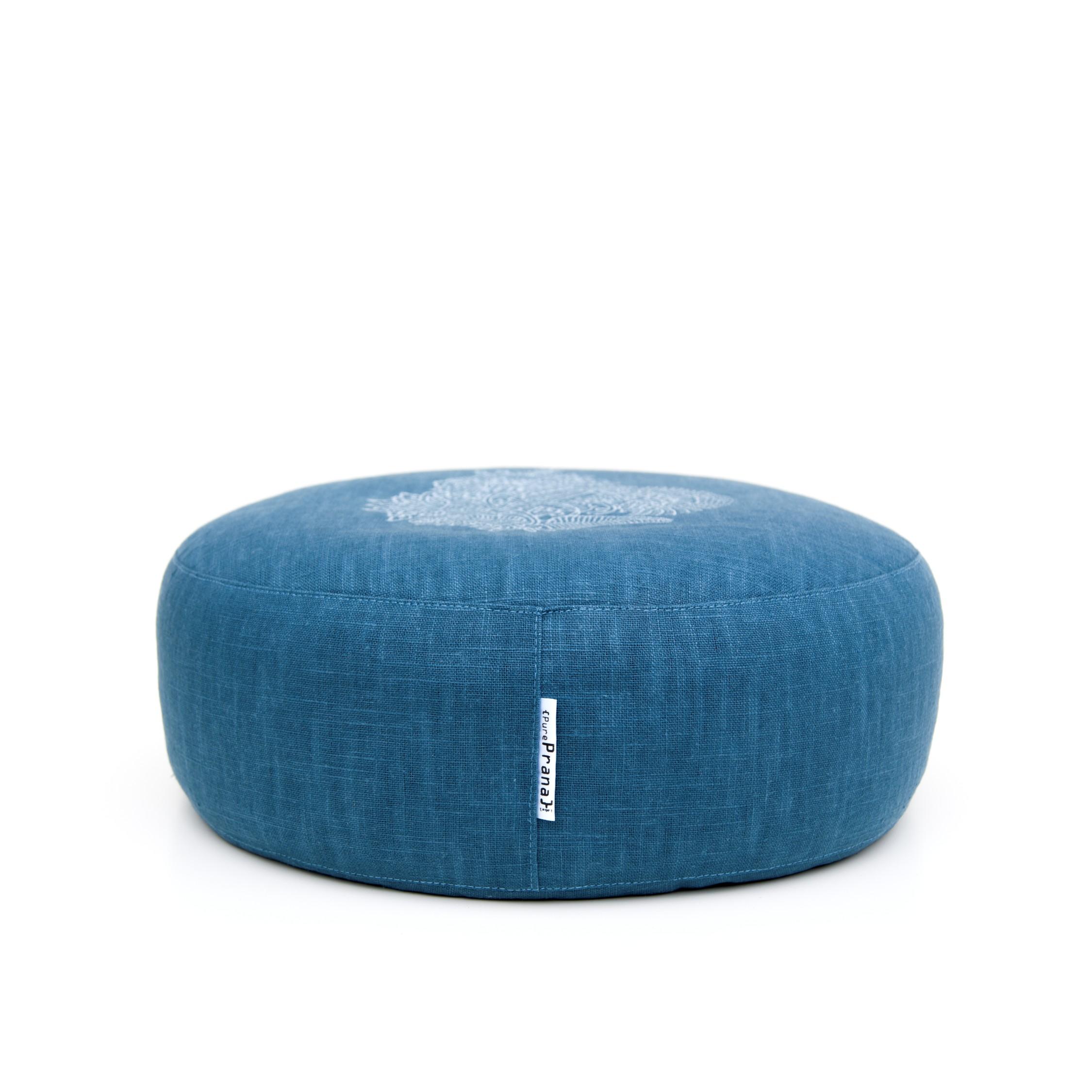 Meditation cushion Royal Blue Flower by Pure Prana Label