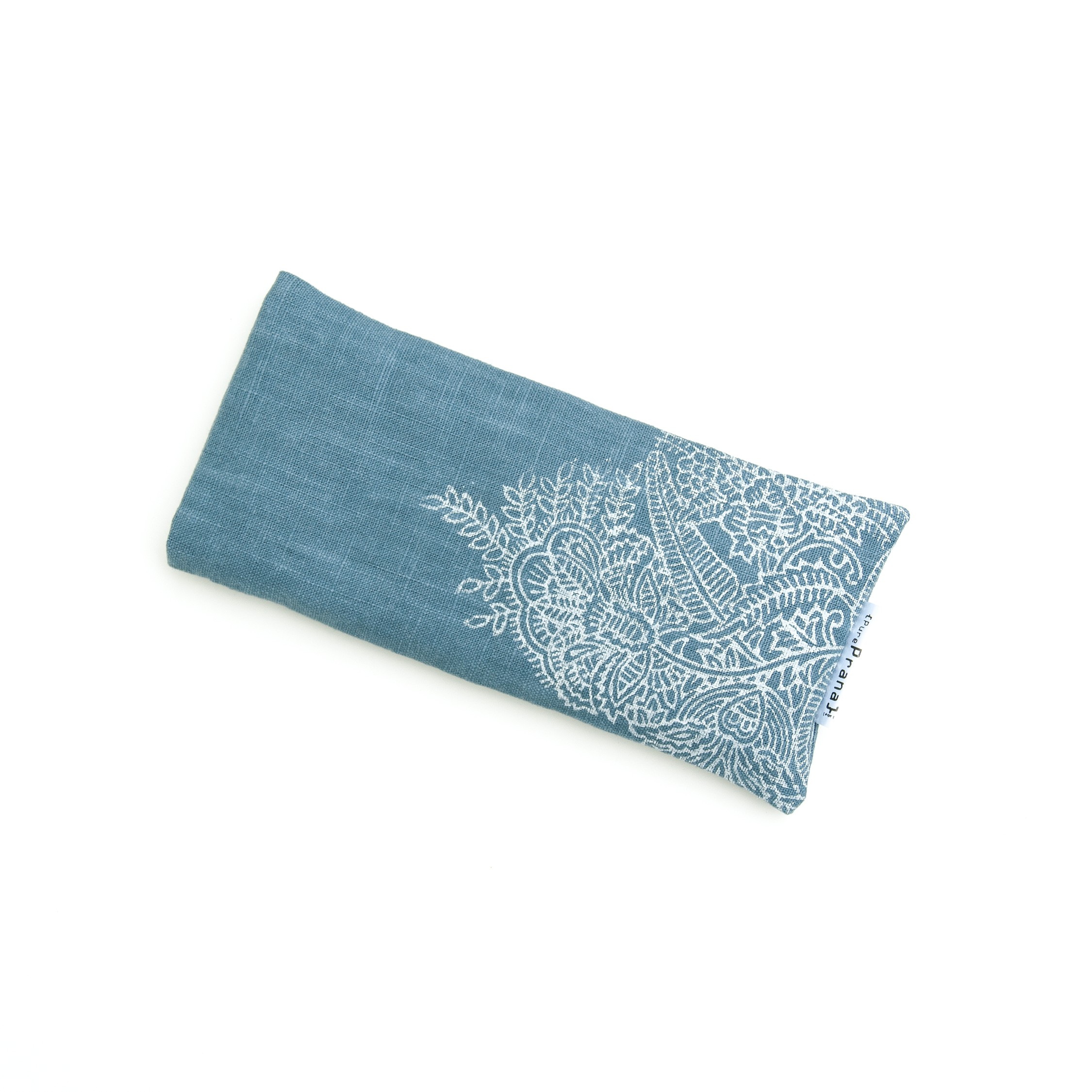 Crystal eye pillow Royal Blue Flower